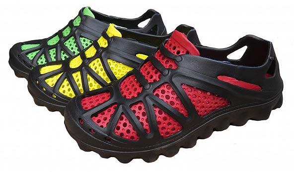 Кроссовки EVA-SHOES цвета: желтый, зеленый, красный.