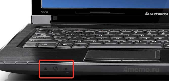 Переключатель WiFi на ноутбуке Lenovo B560 / V560