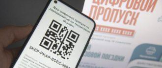 Электронный QR-код пропуска для передвижения по Москве на время карантина.